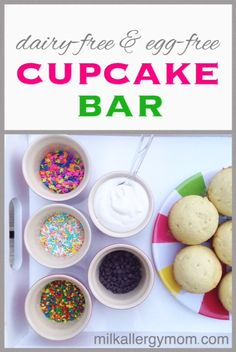 My food allergy son's 4th grade class had a cupcake bar at the end of the year.  It was a huge hit, and I expect they will be asking for one again.  Dairy-free and egg-free cupcakes with homemade frosting and lots of sprinkles.