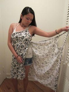 DIY beach wrap...what a great idea! Use an over sized bath towel for after bath wrap!: