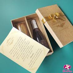 Kit convite para padrinhos de casamento. www.rosapittanga.com.br