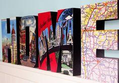 Atlanta Wood Letter HOME sign Custom Signage Wall Decor. $50.00, via Etsy.