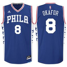 Jahlil Okafor  8 Philadelphia 76ers Road Blue Swingman Jersey Air Jordan c944f8846