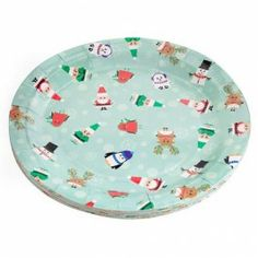 Part of our Mini Merry Christmas coordinated range. Matching items available. Christmas Paper Plates, Christmas Table Decorations, Magical Christmas, Merry Christmas, Christmas Goodies, Tableware, Peacock, Range, Mini