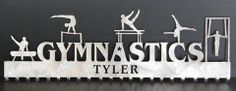 Male Gymnastics Medal Display: Personalized Gymnastics Medals Holder: Gymnastics Medals Hanger....Unbeatable Selection of Personalized Gymnastics Medal Holders with Hundreds of Design Combinations.