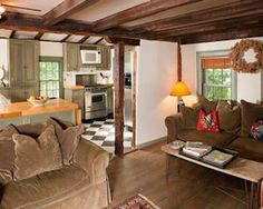 Pawling is home to a 1770 farmhouse which also features a guest house that packs a punch of charm for such a small space. The perfect country home for weekends or year-round living, the home and cottage have period details such as exposed beams, chestnut floors and fireplaces. The main house includes a large living room, family room, dining room, eat-in kitchen, bar, office, three bedrooms and three bathrooms.