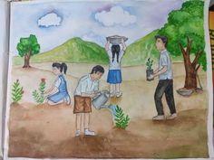 Tree plantation memory drawing