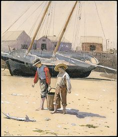 A Basket of Clams, Winslow Homer, 1873