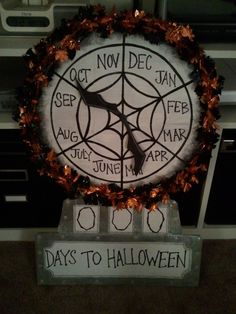 """DIY Nightmare Before Christmas Halloween   I want to make this and add the """"Xmas"""" sign too and use it from Halloween til Christmas. :D"""