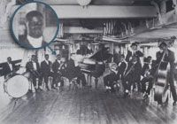 """1919-1921 During the summers, band leader Fate Marable hires Louis to perform on river boats that travel the Mississippi River from New Orleans to St. Louis. Continues to perform with various New Orleans ensembles. Joins the Tuxedo Brass Band, led by Oscar """"Papa"""" Celestin."""""""
