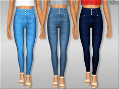 -high waisted jeans made for your teens! ooooo ryhmey :P  Found in TSR Category 'Sims 3 Female Clothing'