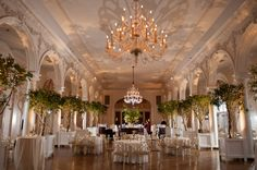 ballroom reception at Piedmont Driving Club in GA | Kate Belle #wedding