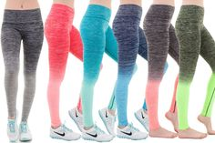 Ombre Yoga Athletic Workout Exercise Leggings