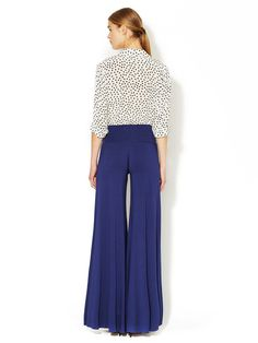 Wide-Leg Jersey Knit Trouser by Rachel Pally at Gilt