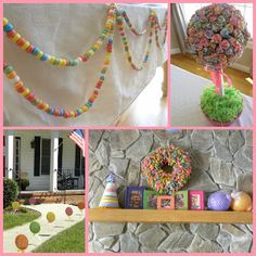 candy themed party! i love it.. this is what we have decided on for maya's birthday! it's going to be great!