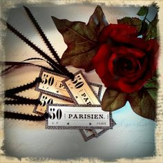 Parisien Gift Tags Set of 6 by enchantedscraps on Etsy, $3.50