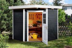 Abri de jardin en résine, Basic Home, gris foncé, 11 m2 GROSFILLEX ...