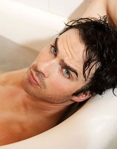Ian Somerhalder...in a bathtub!