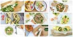 Eens wat anders dan een boterham? Op zoek naar gezonde lunch recepten, dan heb ik een mooi overzicht voor je! Salades, wraps, frittata's en omelet...