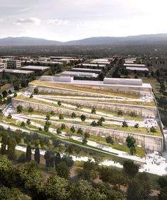 BIG unveils plans for zigzagging google campus in california with terraced roofscapes