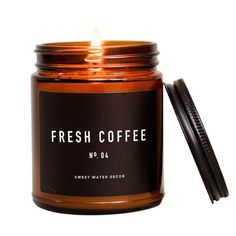 """Sweet Water Decor FRESH COFFEE SOY CANDLE 