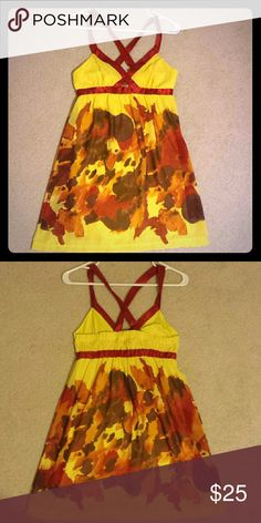 Ardent B size small dress Red and yellow dress Arden B Dresses