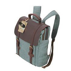 Koolertron Women / men / bag classic backpack casual canvas bag travel school shoulder Bag messenger bag for laptop/ipad 3/ipad mini/ipad air (Blue 2)
