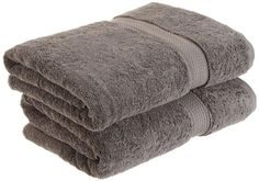 Best Bath Towels 2017 Dark Graybath Towel In Soft Cotton Terry With An Embroidered