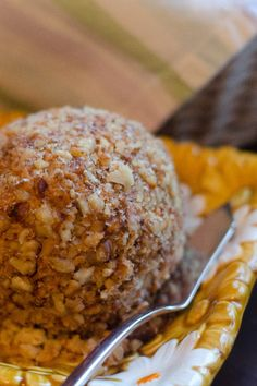 Chocolate Chip Cream Cheese Ball Recipe with Pecans and Brown Sugar!