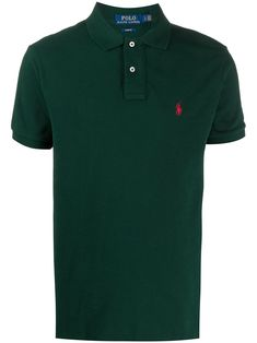 Forest green cotton short sleeve polo shirt from Polo Ralph Lauren featuring a ribbed polo collar, a contrast embroidered logo at the chest and a straight hem. Polo Ralph Lauren Shorts, Polo Jeans, Camisa Polo, Short Sleeve Polo Shirts, Green Cotton, Cotton Shorts, Size Clothing, Boy Outfits, Women Wear