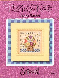 Spring Bouquet cross stitch pattern by Lizzie Kate at thecottageneedle.com