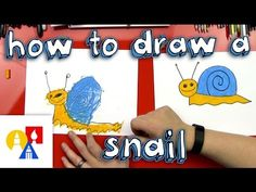 How to draw a snail video.