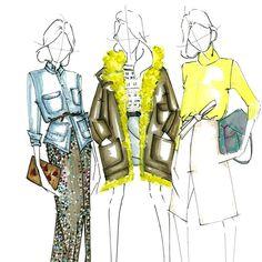 JCrew kinda day. @jcrew #jcrew #jcrewnyfw #fall15 #fashion #fashionillustration…