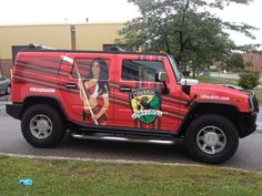 ....and here she is!  The complete printed wrap on this Hummer H2 for The Tilted Kilt.  Eye-catching, that's for sure!  :-D #vehiclewraps   www.SpeedproDurham.ca