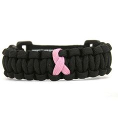 Pink Ribbon Paracord Bracelet