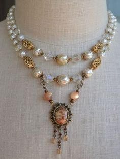 Vintage Assemblage Jewelry, Mid-Century