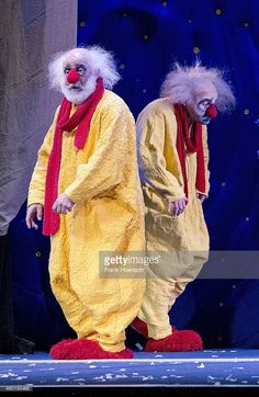 Clowns perform live during the 'Slava's Snowshow' at the Admiralspalast on January 2, 2014 in Berlin, Germany.
