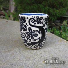 Lizard Cup  stoneware ceramic shot glass espresso by MotherSpoon