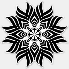 Shop Mandala geometric Sticker created by MyOtherPlanet. Mandala Design, Geometric Mandala Tattoo, Mandala Pattern, Mandala Art, Dot Work Mandala, Tribal Tattoos, Celtic Tattoos, Nikko Hurtado, Water Lily Tattoos