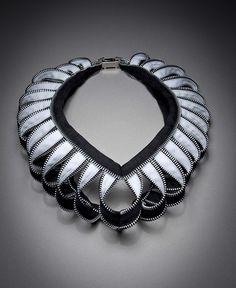 Necklace | Kate Cusack. Zipper jewellery