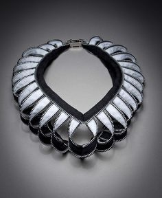 Necklace | Kate Cusack.  Zipper jewellery