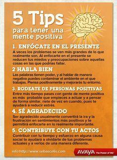 #Psicología - 5Tips para mantener la #mente positiva