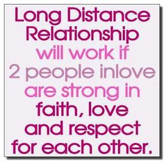 long distance relationship...