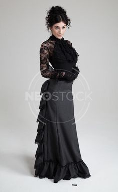 Female Gothic Victorian Stock Photography