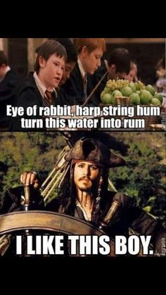 funny-Harry-Potter-Jack-Sparrow-water-rum Of course you do captain Jack. Also you need to hide the rum from will too. He blew it up Estilo Harry Potter, Harry Potter Jokes, Harry Potter Fandom, Funny Harry Potter Pics, Harry Potter Crossover, Harry Potter Disney, Always Harry Potter, Harry Potter Characters, Fans D'harry Potter