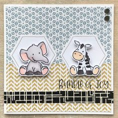 LindaCrea: LiLa Swap #6 - Hexagon & Washi Tape Kids Cards, Baby Cards, Watercolor Birthday Cards, Baby Sketch, Baby Zebra, Mft Stamps, Marianne Design, Card Sketches, Stampin Up