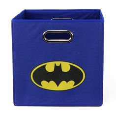 Batman Logo Folding Storage Bin, Blue