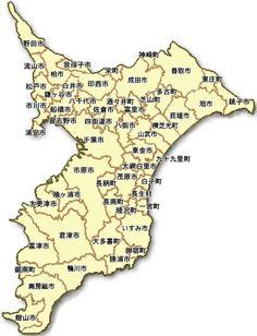千葉県全体の地図