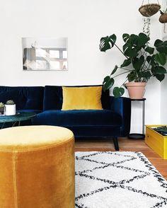 Furniture Inspiration, Room Inspiration, Velour Sofa, Sofa Company, Nordic Living, Sofa Styling, Nordic Interior, Scandinavian Design, Apartment Ideas