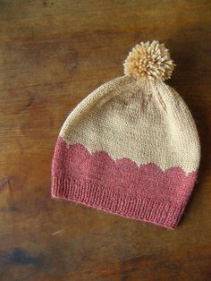 scalloped hat