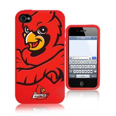 Louisville Cardinals 3D Silicone Mascot iPhone 4/4S Case $29.99 http://www.fansedge.com/Louisville-Cardinals-3D-Silicone-Mascot-iPhone-44S-Case-_-142267666_PD.html?social=pinterest_pfid23-52199