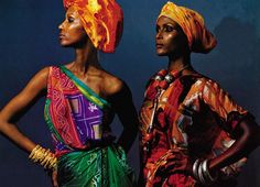 Iman and Waris Dirie nod to their Somali heritage in traditional dress, June 1998